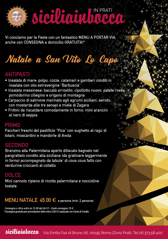 Menu Di Natale Cenone.Cenone A Domicilio Sicilia In Bocca