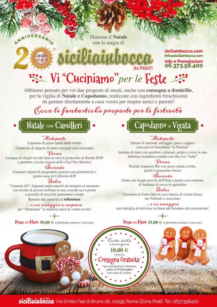 Menu Cenone Vigilia Di Natale.Cena Di Natale E Capodanno Take Away Sicilia In Bocca